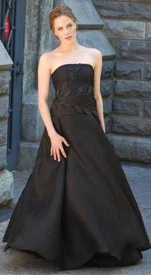 organza silk satin gown fall 2011