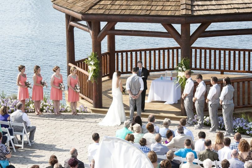 Wedding ceremony at the waterfront