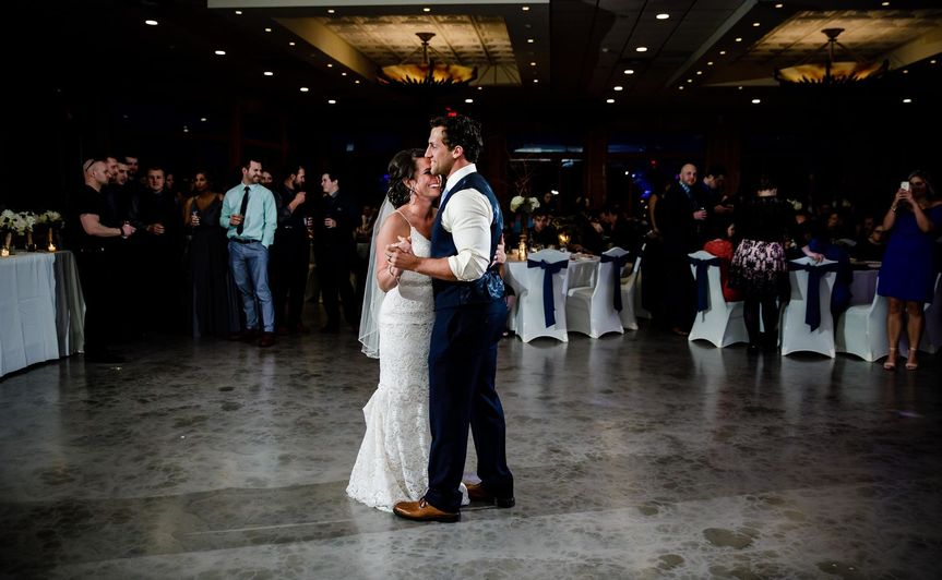 First dance as the newlyweds