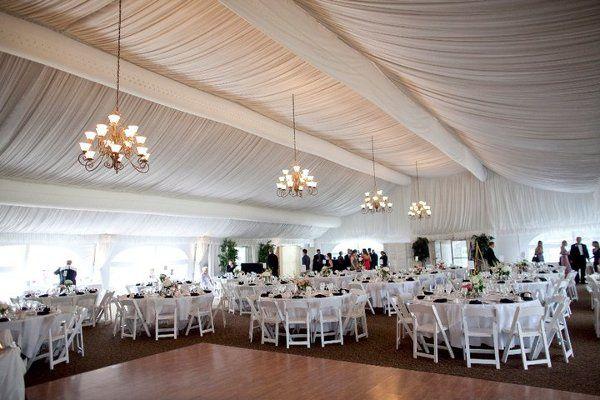 Spacious tented interiors