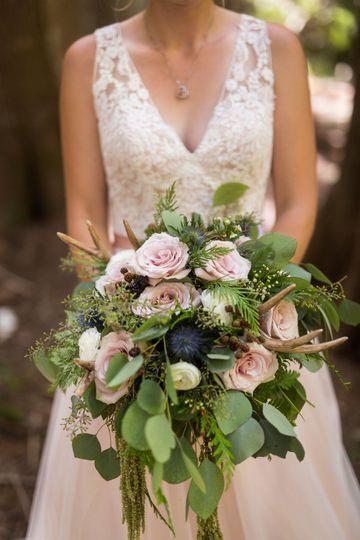 Rustic Bridal Antler Bouquet
