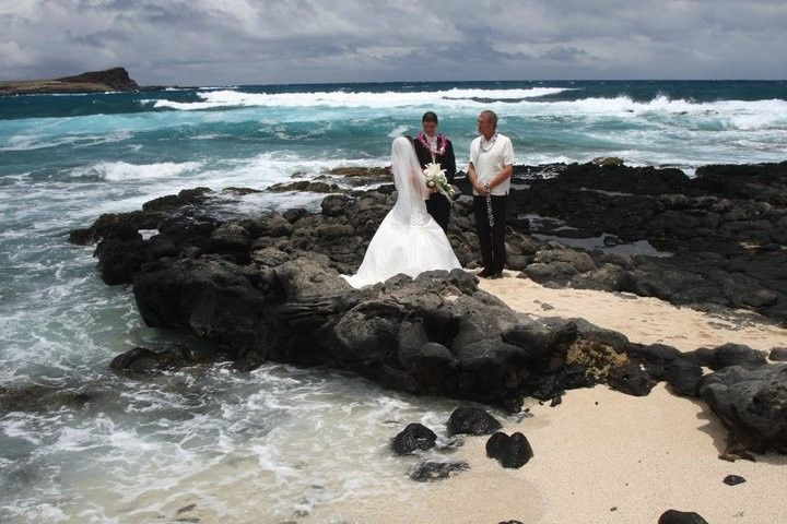 Ceremony by the rocks