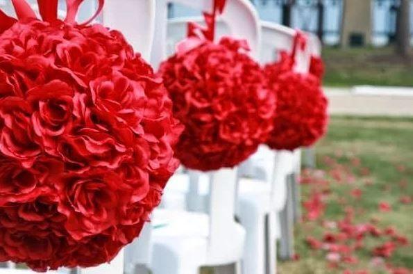 Wedding ceremony venue decorations