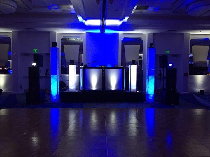 Color keyed DJ bench with LED lighting