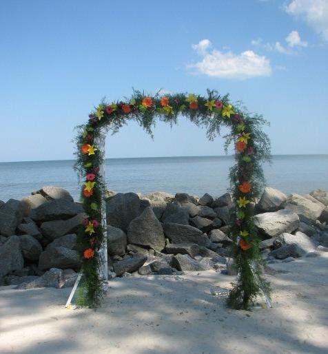 Arch-way on Beach