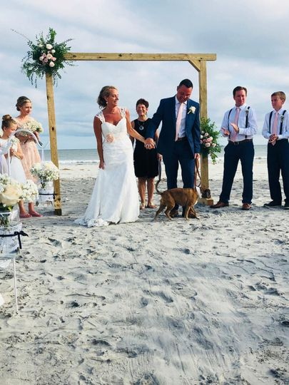 Their pups part of ceremony