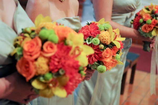 Summer colored bouquets