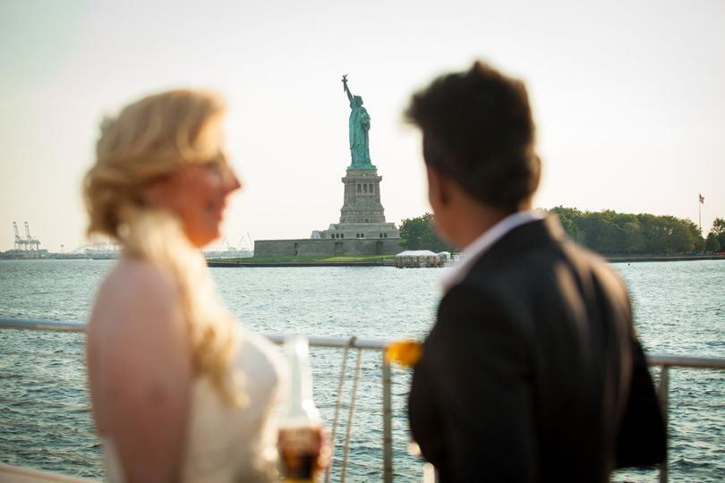 Overlooking the Statue of Liberty