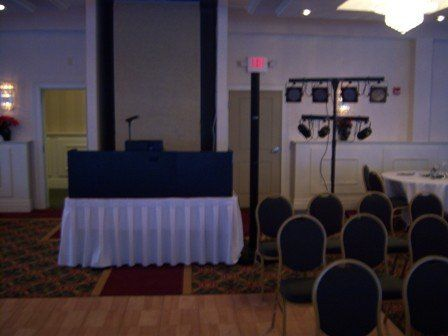 Reception DJ booth