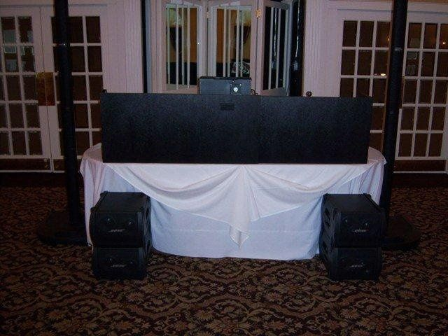 Our set up during a Wedding Reception at The Glen Sanders Mansion, Scotia, New York