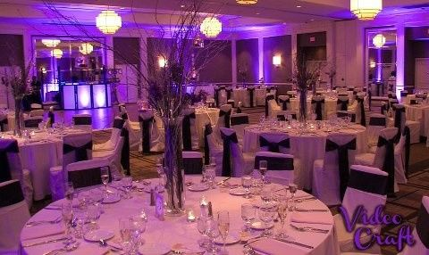 saratoga hilton purple uplighting