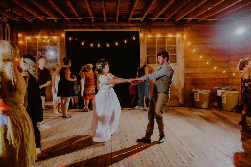 Newly weds dancing