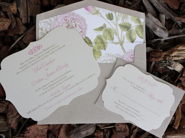 Tmx 1482960903801 Flat Card Ellen  Dalton Tustin, California wedding invitation