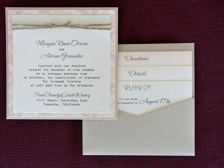 Tmx 1482961113687 Pocket Card Square Meagan  Adrian Tustin, California wedding invitation