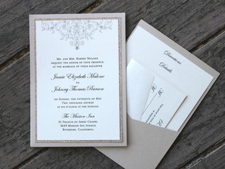 Tmx 1482961329308 Pocket Card Portrait Jamie  Johnny Tustin, California wedding invitation