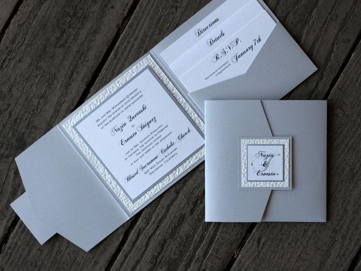 Tmx 1482961714328 Pocket Fold Sig Side Square Nazia  Ernesto Tustin, California wedding invitation