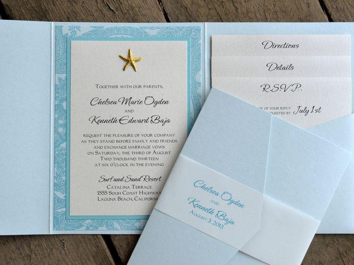 Tmx 1482962099275 Pocket Fold Sig Side Portrait Chelsea  Kenneth Tustin, California wedding invitation