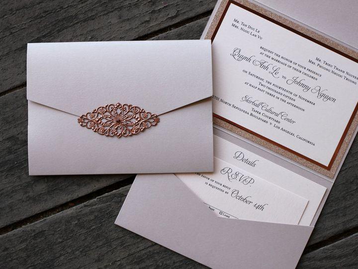 Tmx 1482962149486 Pocket Fold Landscape Le  Nguyen Tustin, California wedding invitation