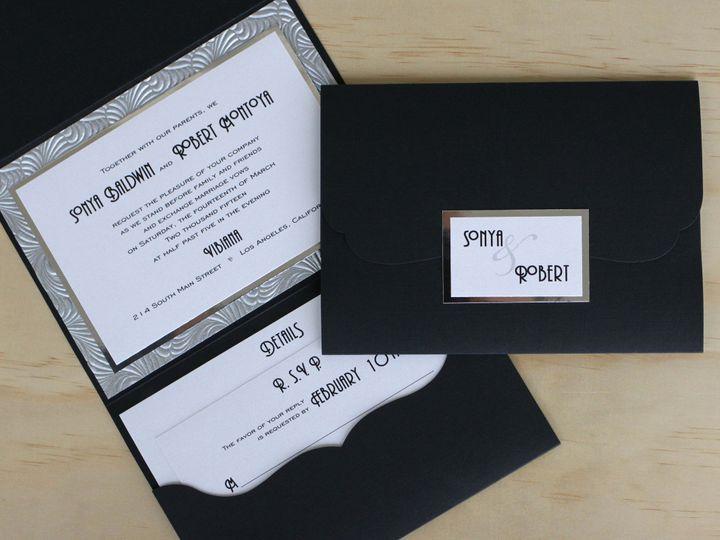 Tmx 1482962173283 Pocket Fold Landscape Sonya  Robert Tustin, California wedding invitation