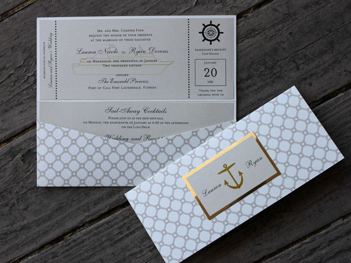Tmx 1482962306234 4x9 Landscape Lauren  Ryan Tustin, California wedding invitation