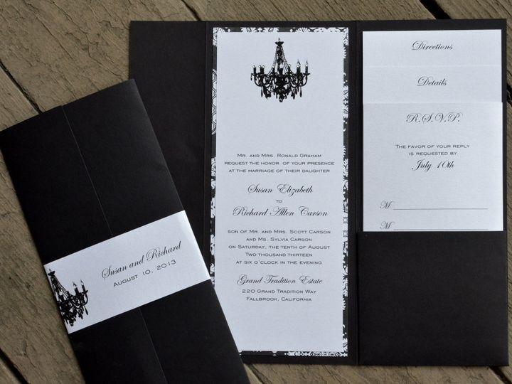 Tmx 1482962411921 4x9 Portrait Chandelier Tustin, California wedding invitation