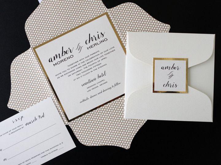 Tmx 1482962744580 Enclosure Square Amber  Chris Tustin, California wedding invitation