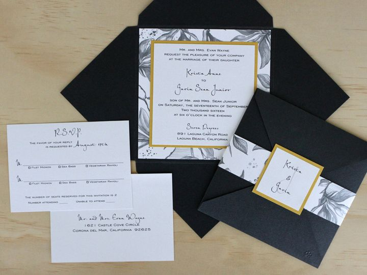 Tmx 1482962882734 Enclosure Square Krista  Gavin Tustin, California wedding invitation