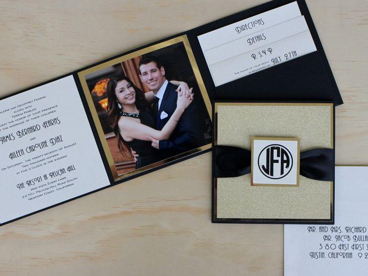 Tmx 1482963025313 Photo Fold Aileen  James Wood Tustin, California wedding invitation