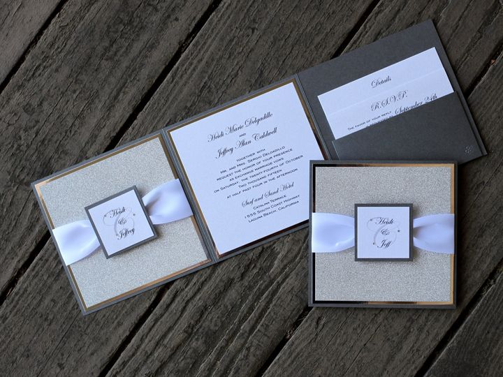 Tmx 1482963412159 Z Fold Heide  Jeff Tustin, California wedding invitation