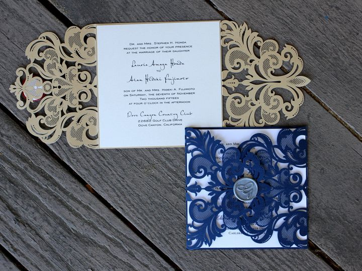Tmx 1482963747137 Laser Cut Janice Gate Folds Tustin, California wedding invitation