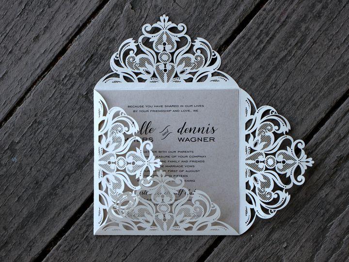 Tmx 1482963827795 Laser Cut Janice Michelle  Dennis Tustin, California wedding invitation