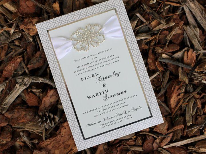 Tmx 1482964219560 Metal Ellen  Marin Bark Tustin, California wedding invitation