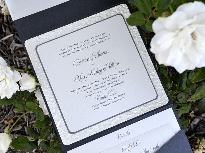 Tmx 1482964745538 Bella Luxe Oversized Pocket Fold Brittany  Marc Tustin, California wedding invitation