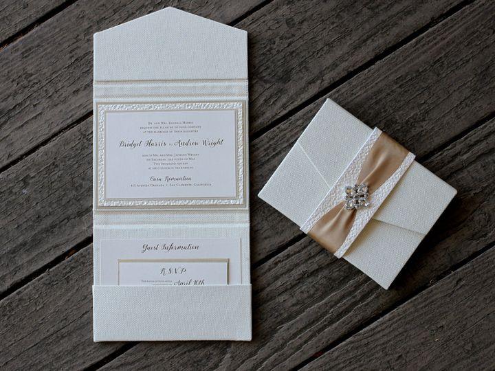 Tmx 1482965358173 Bella Luxe Trend Clutch Bridget  Andrew Tustin, California wedding invitation