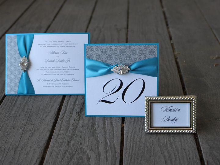 Tmx 1482965468865 Collection Teal  Silver Tustin, California wedding invitation