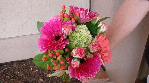 Tmx 1292445378119 BMpinkandcoralgerbswithgreenandberries Arlington wedding florist