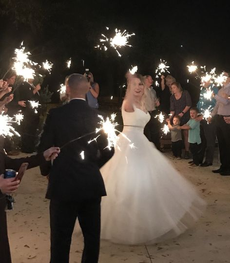 Couple's photo with sparkler