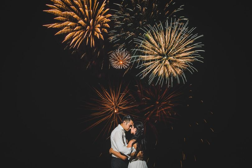 Epic fireworks shot in Aruba
