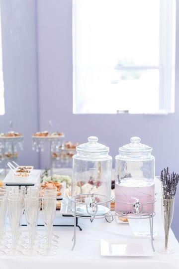 Lavender martini bar