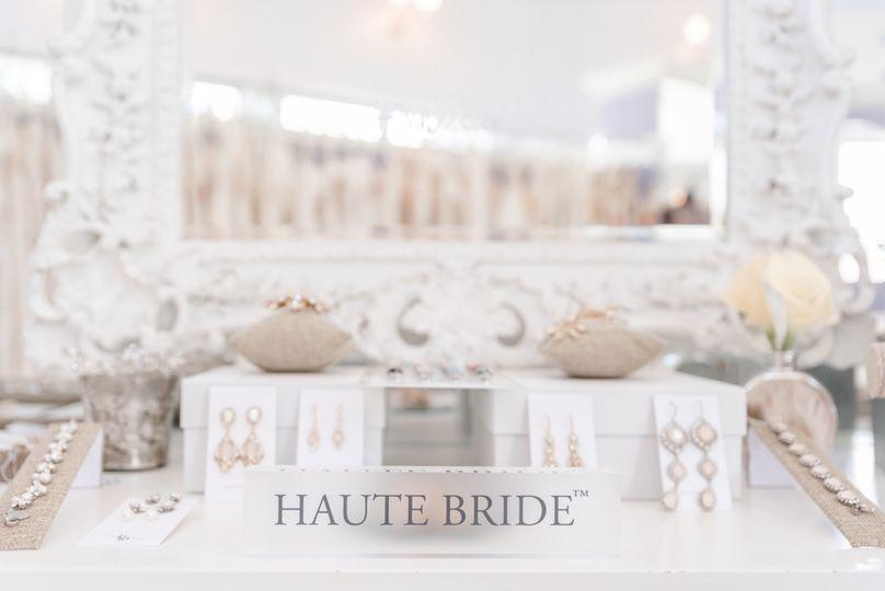 Haute Bride accessories display