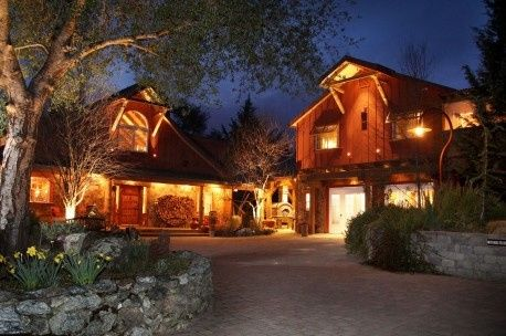 Evening lights at the inn