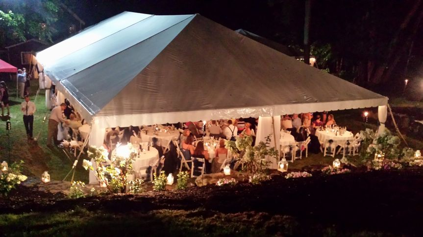 Evening celebration in the tent