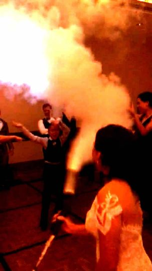 Bride with CO2 cannon!