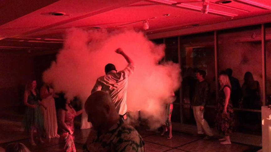 CO2 Cannon on the dance floor!