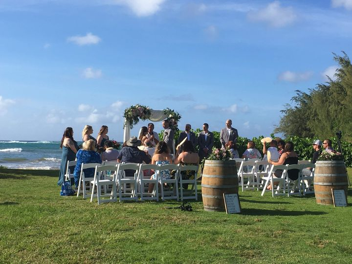 Beach ceremony at Loulu Palm