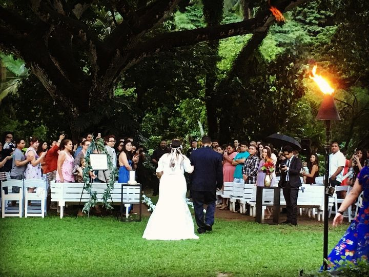 Wedding ceremony at Waimea