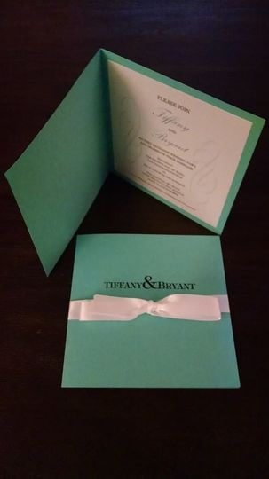 Tiffany themed invitation