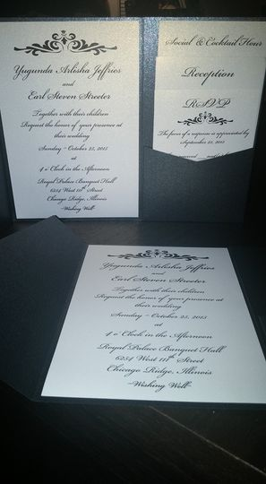 Black and white pocket invitation (inside)