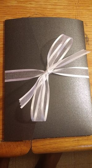 Black and White pocket invitation