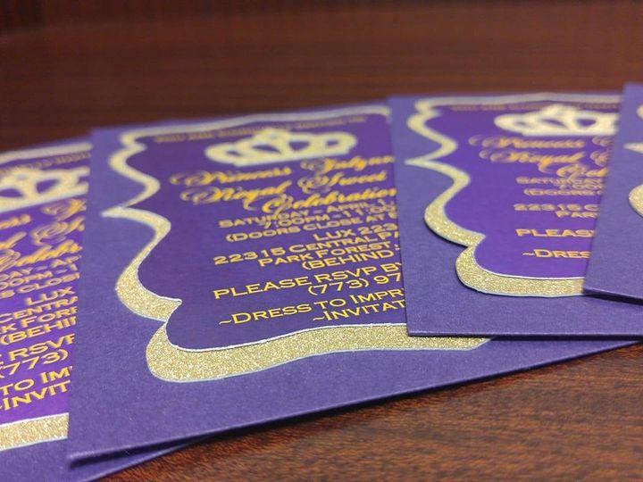 Tmx 1501100979864 Purple And Gold Calumet City, Illinois wedding invitation